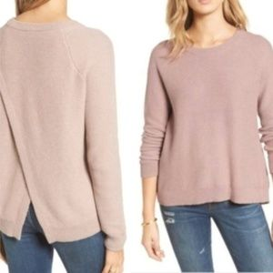 Madewell Province Cross Back Knit Pullover Sweater